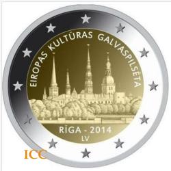 Letónia 2€ 2014 Riga