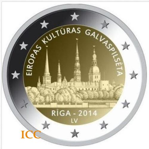Latvia 2€ 2014