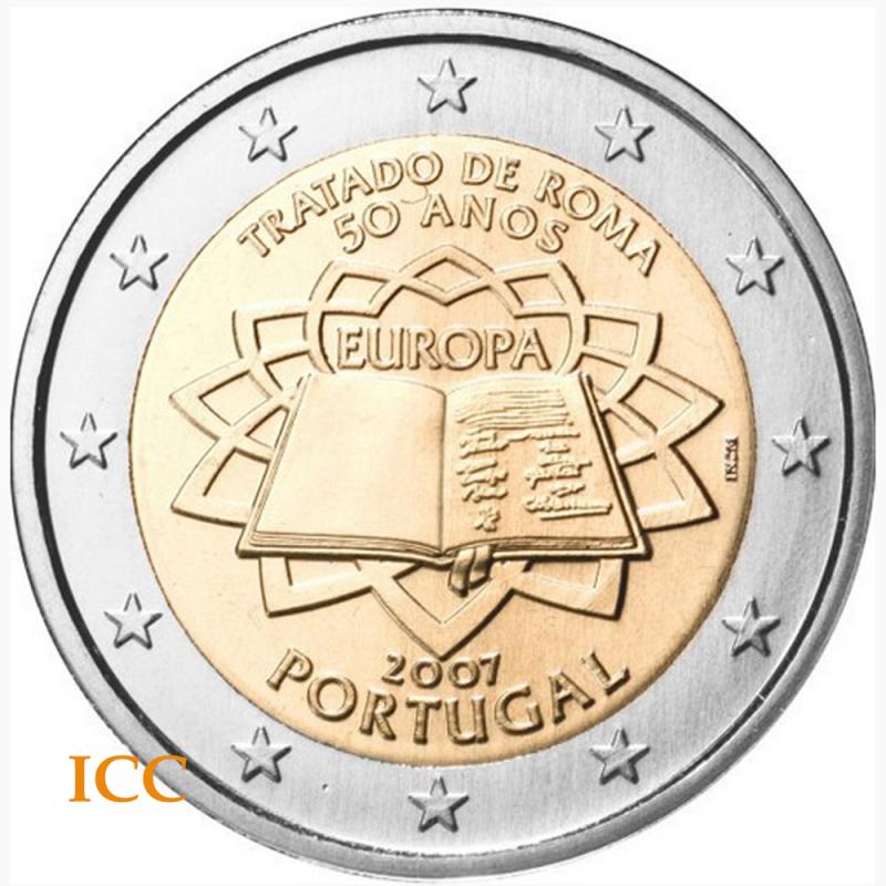 Portugal 2€ 2007 Tratado de Roma
