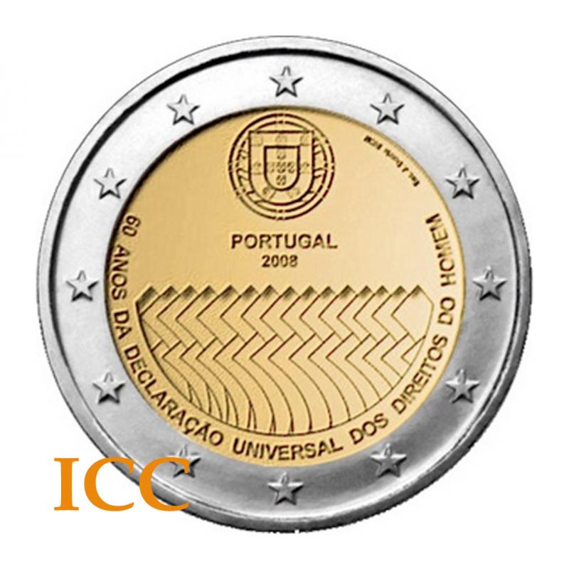 Portugal 2€ 2008 (Direitos Humanos)