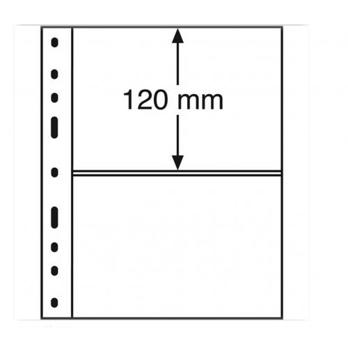 Folhas A5 OPTIMA Transparentes com 2 Divisórias