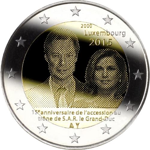 Luxemburgo 2€ 2015 15º Aniv. da Ascenção