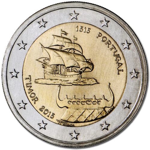 Portugal 2€ 2015 - 500 TH ANNIVERSARY OF THE FIRST CONTACT WITH TIMOR