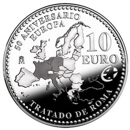 Espanha 10€ 2007 Tratado de Roma