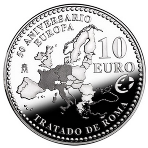 Spain 10€ 2007 (Treaty of Rome)