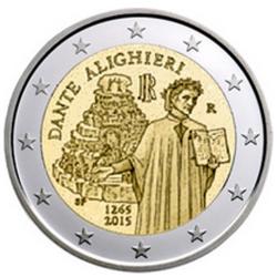 Itália 2€ 2015 Dante
