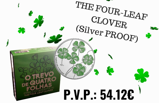 THE FOUR-LEAF CLOVER Silver coin
